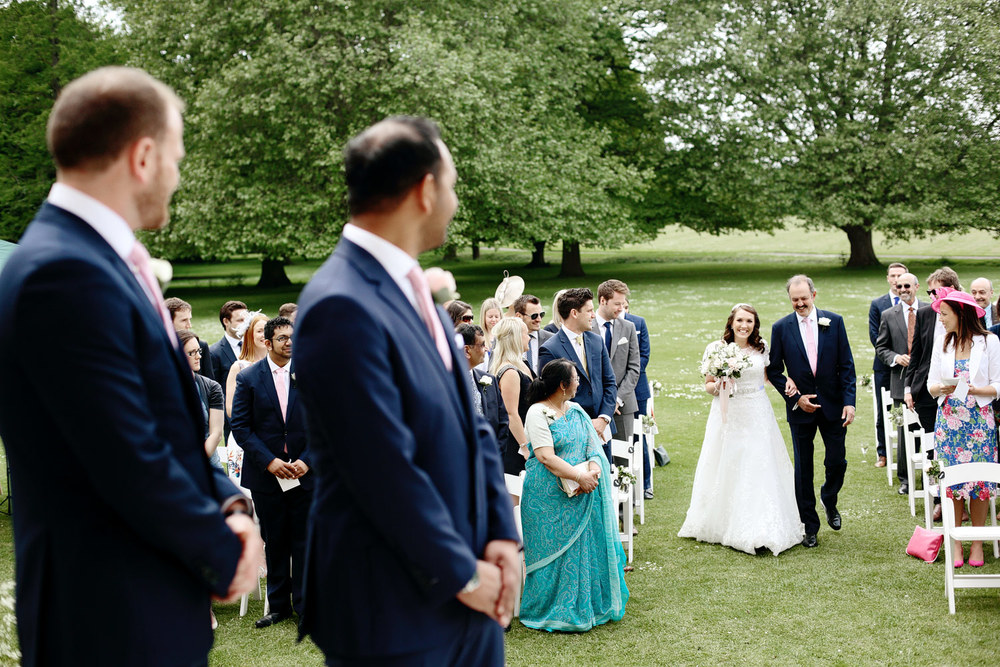 Bradbourne House outdoor wedding ceremony photo