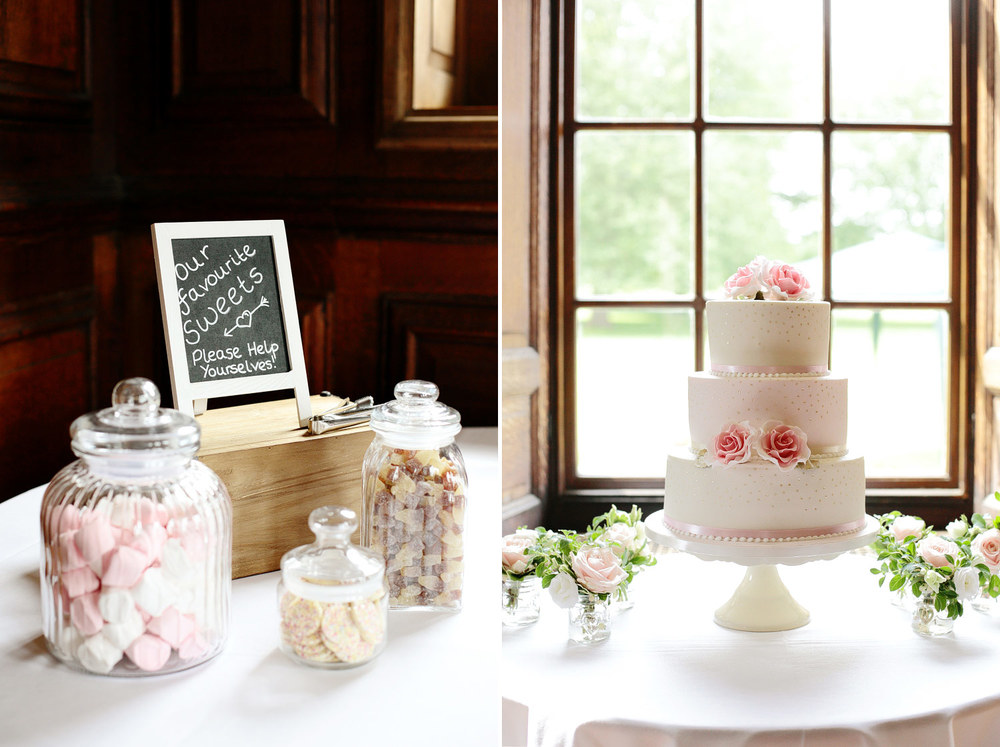 Bradbourne House wedding cake photo