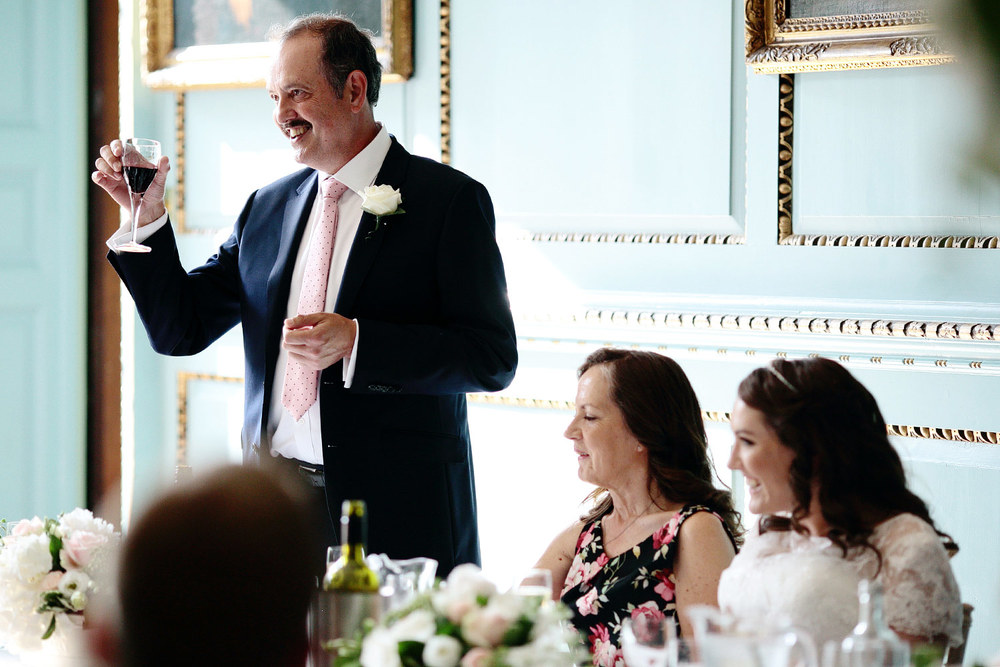 Bradbourne House wedding speeches photo