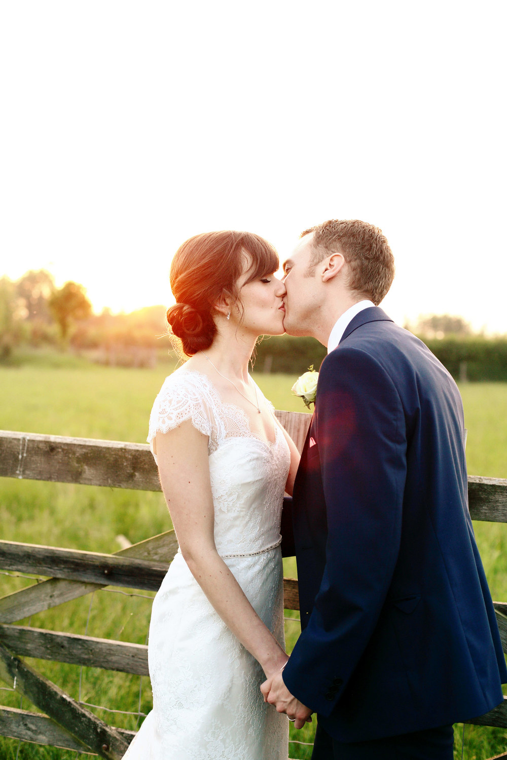 South Farm wedding sunset photo