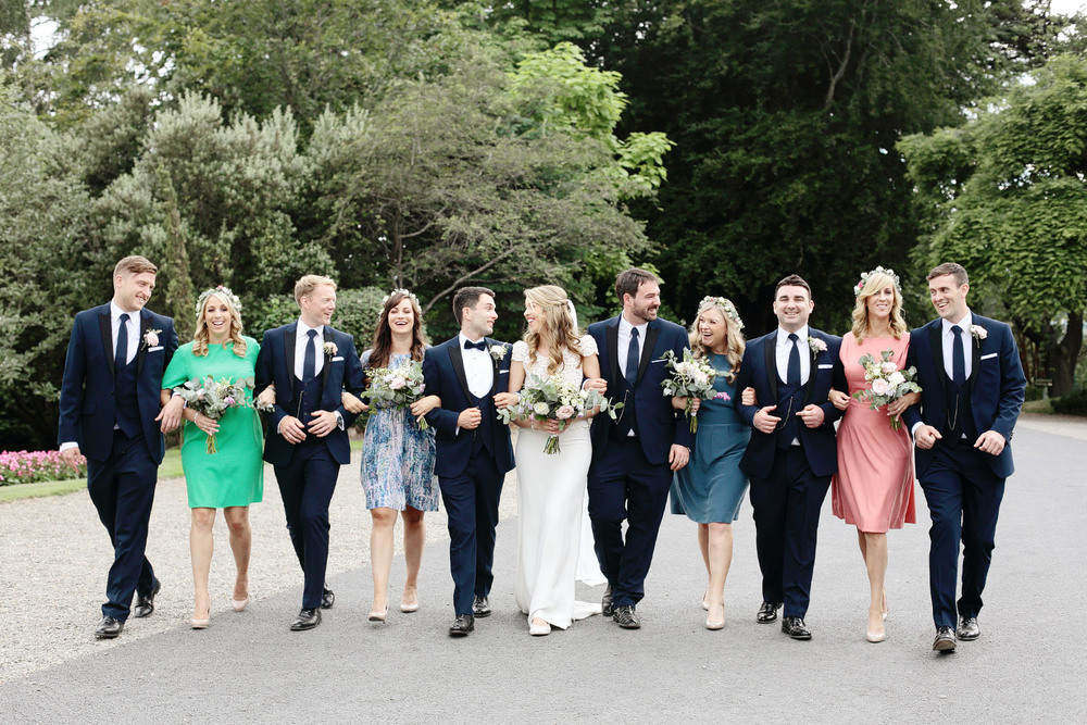 Tinakilly House wedding bridal party photo