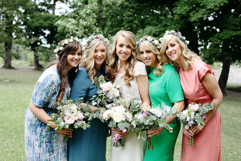 Tinakilly House wedding bridesmaids photo