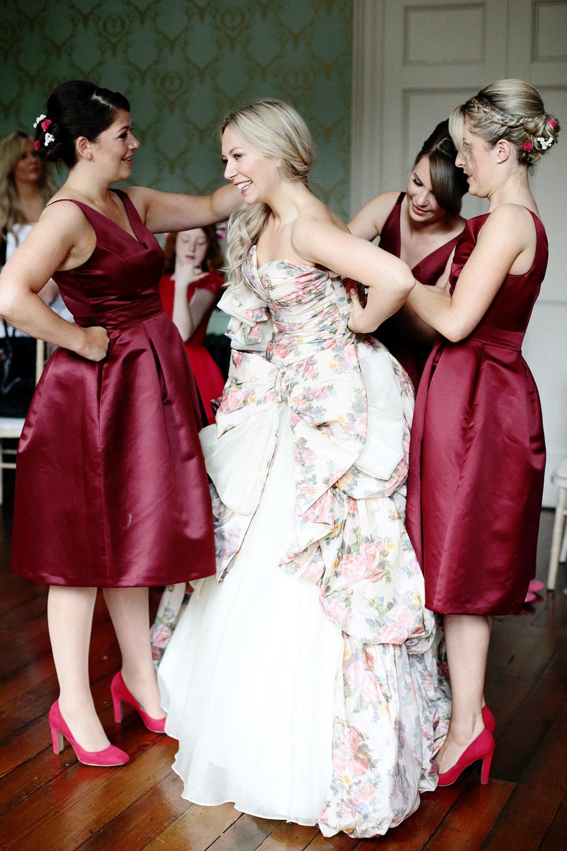Fasque House wedding bride getting ready