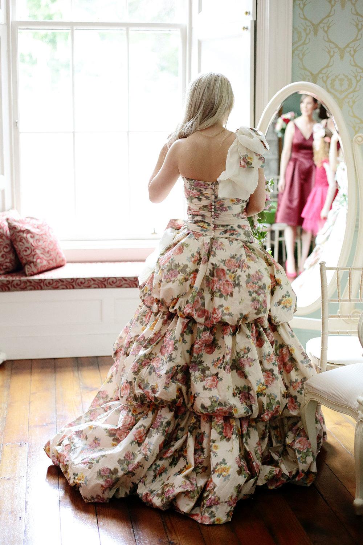 Fasque House bride in colour wedding dress