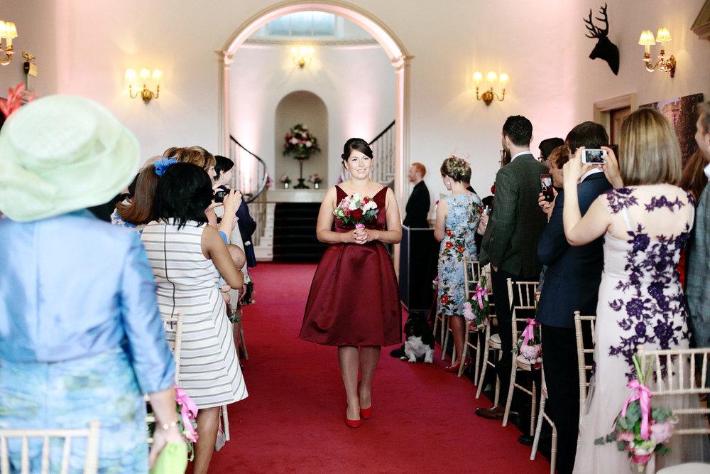 Fasque House wedding ceremony photo