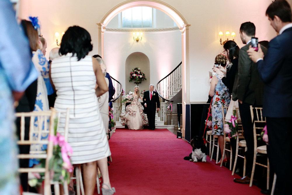 Fasque House bride ceremony entrance photo
