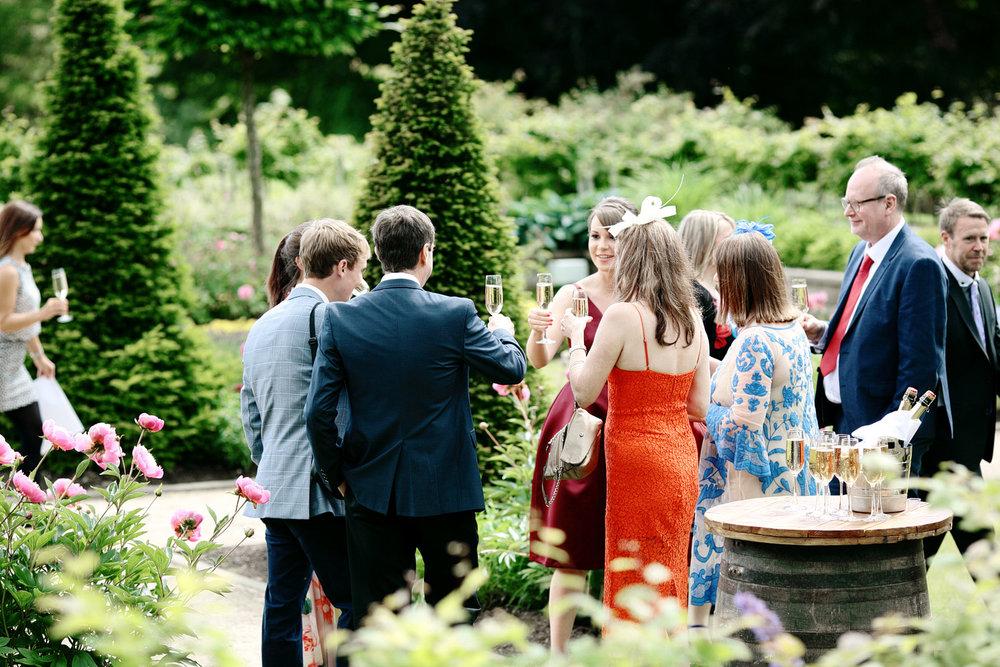 Fasque House wedding guests having fun