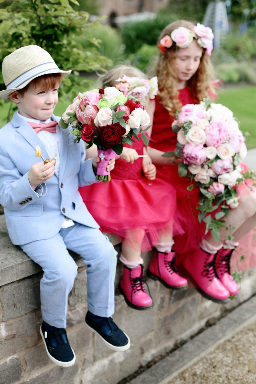 Fasque House wedding flower girls photo