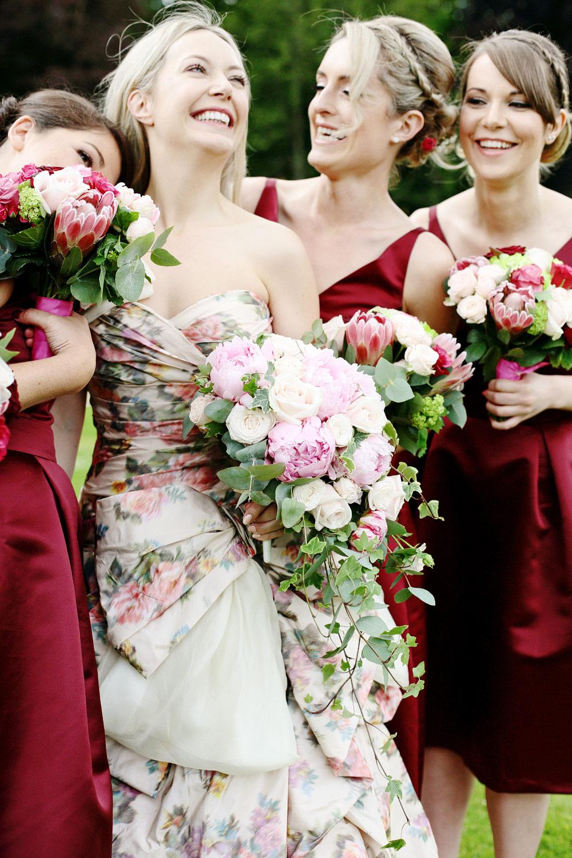 Fasque House bridesmaids in marsala photo