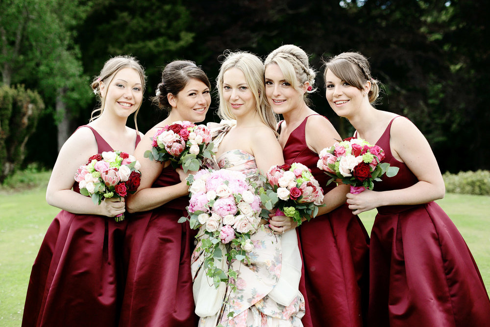 Fasque House bride with bridesmaids photo