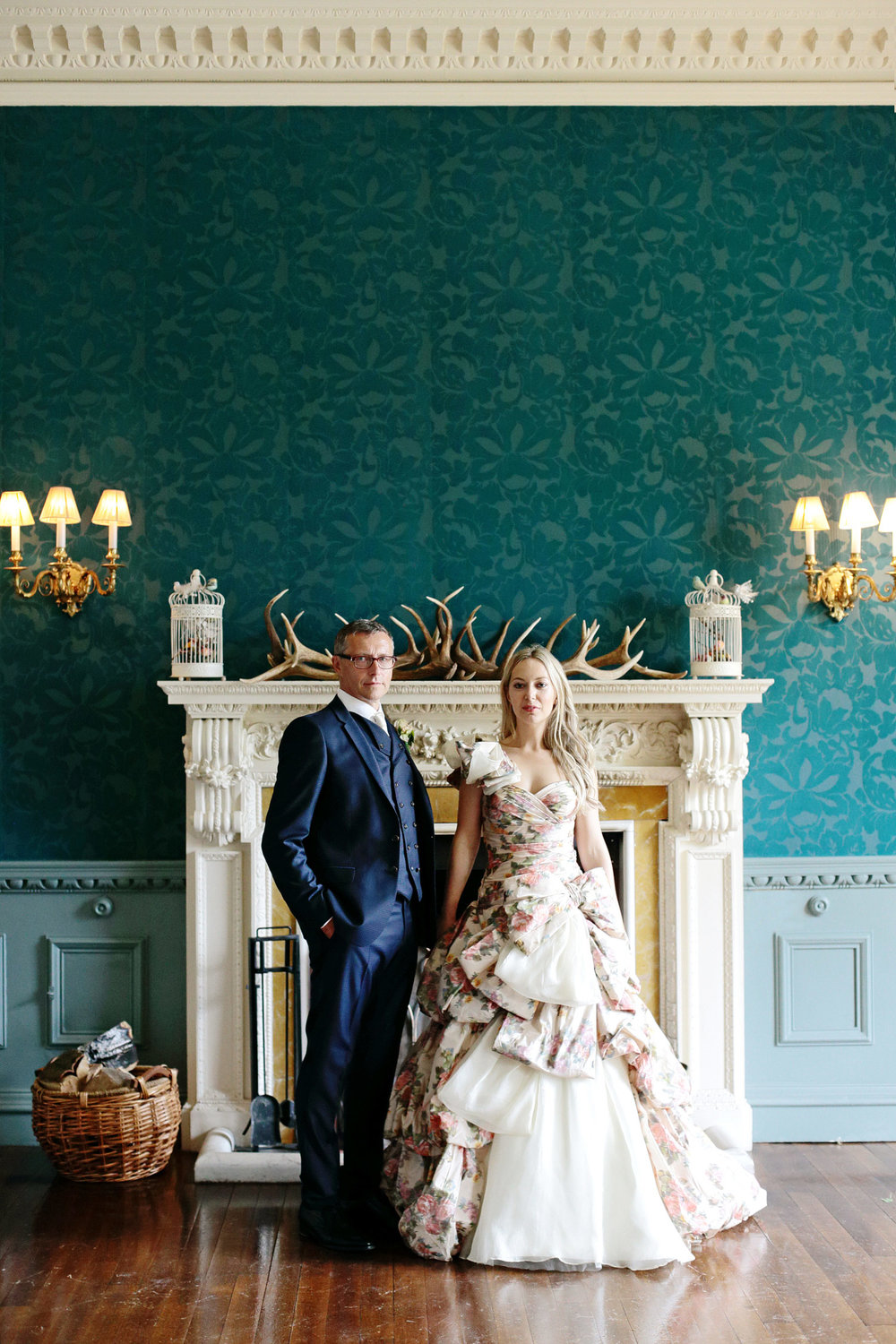 Fasque House bride and groom wedding portrait