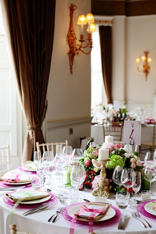Fasque House colourful wedding decor photo