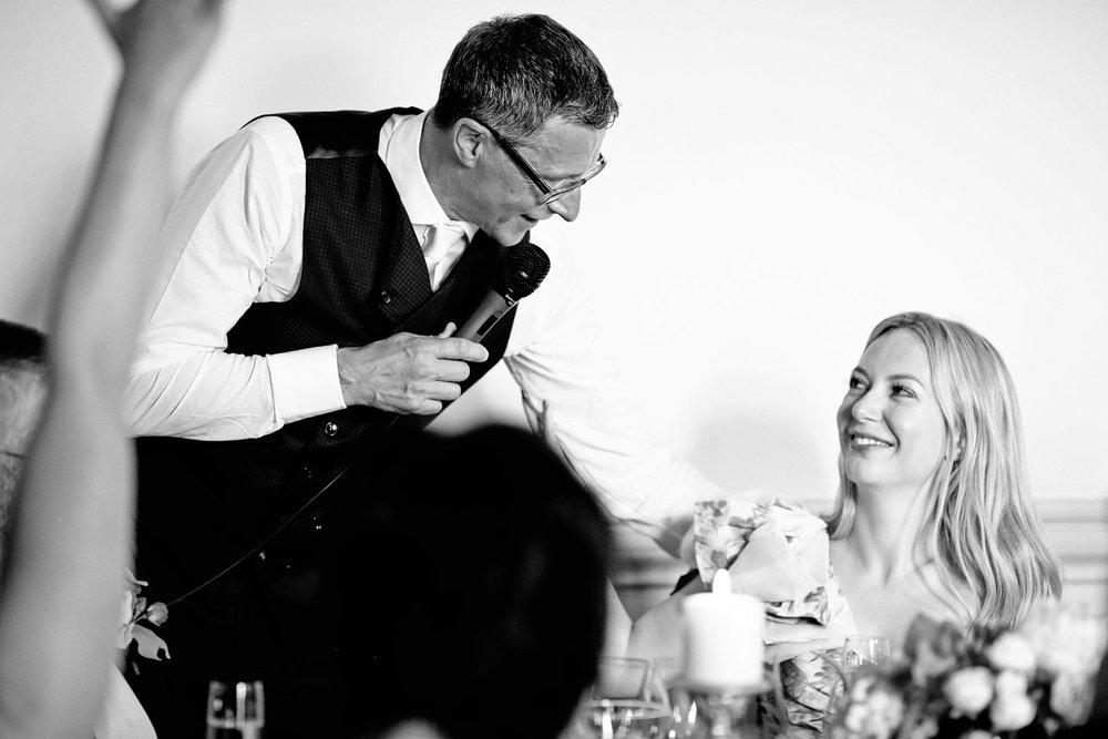 Fasque House groom wedding speech photo