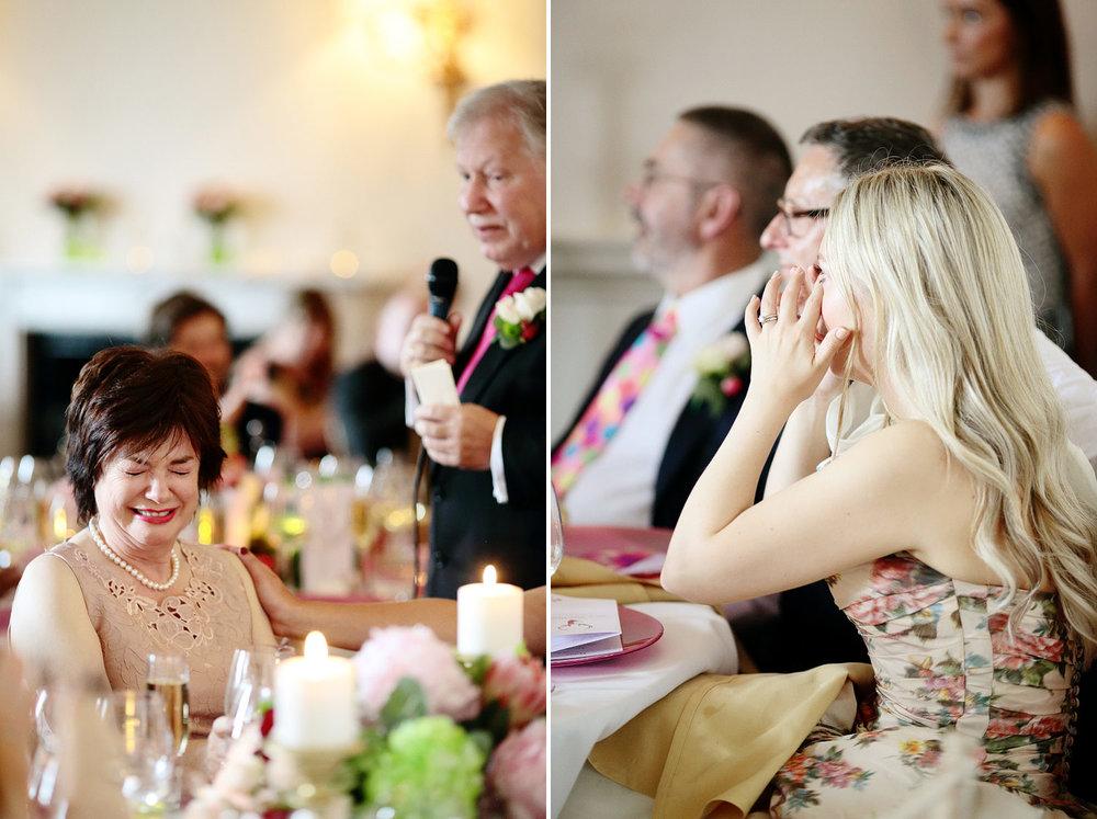 Fasque House emotional wedding speech photo