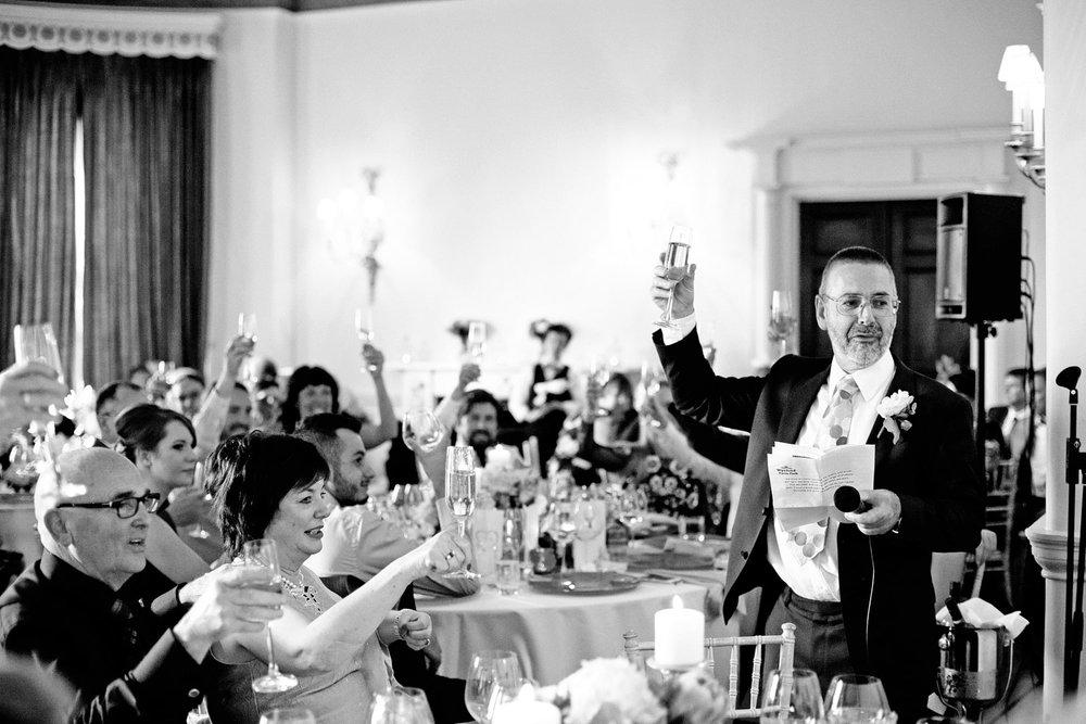 Fasque House wedding speeches photo