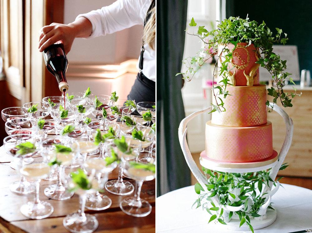 Fasque House wedding cake photo