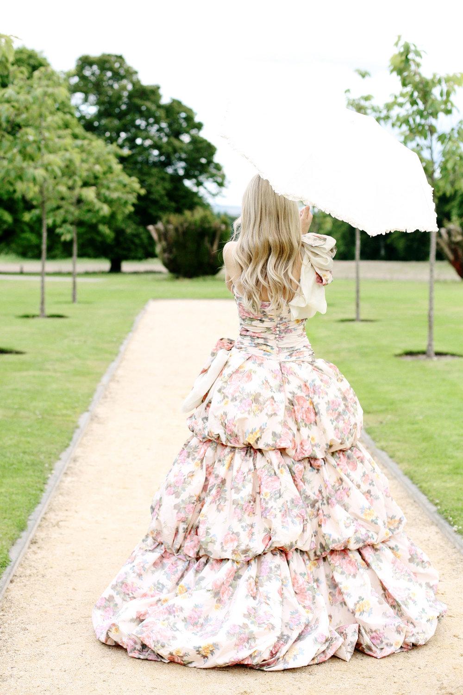 Unusual colour wedding dress Ian stuart