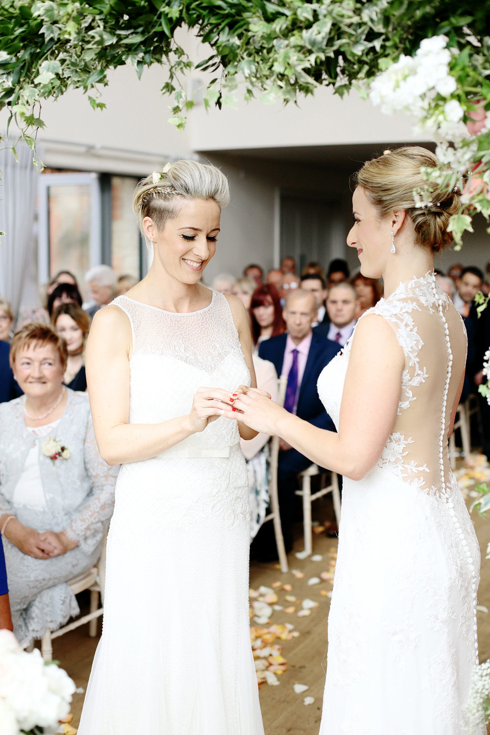 same sex wedding ring exchange photo