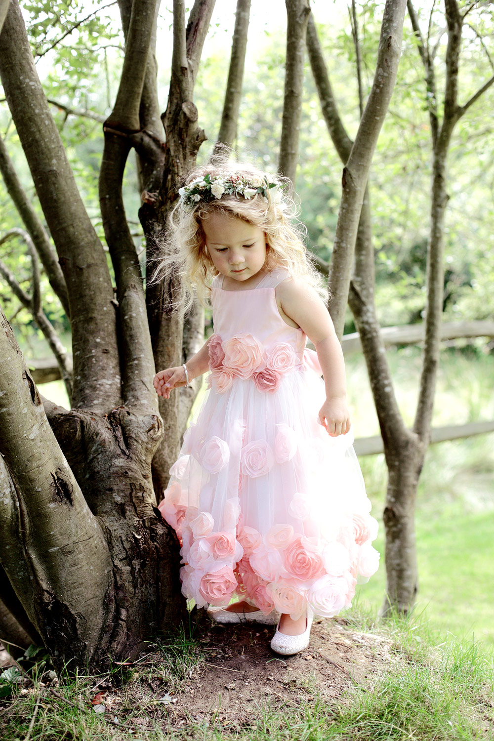 millbridge court flowergirl in pink photo