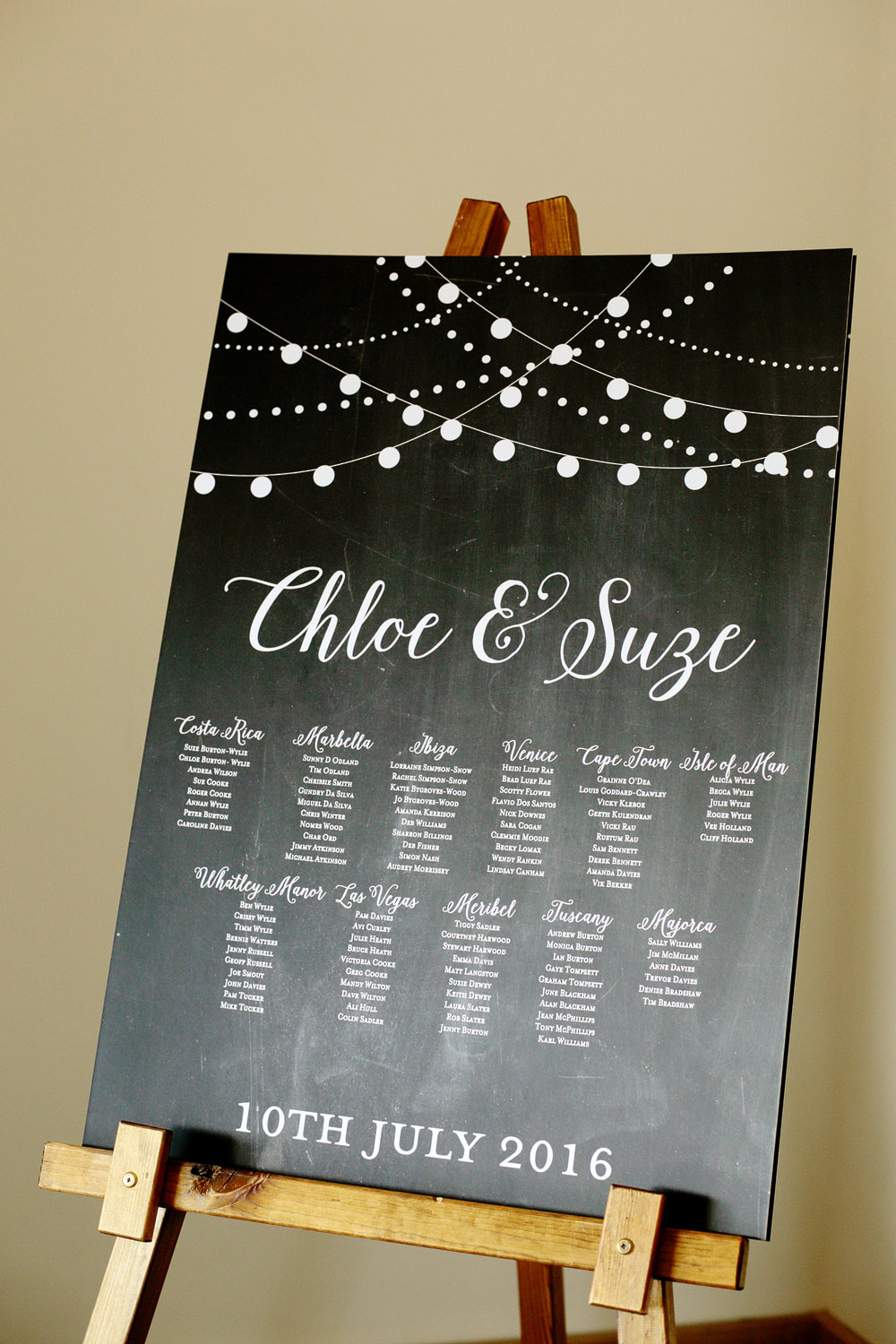 millbridge court chalkboard table plan photo