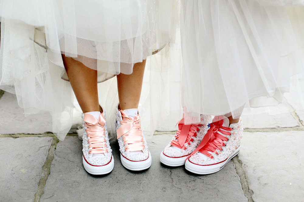 custom made wedding converse photo
