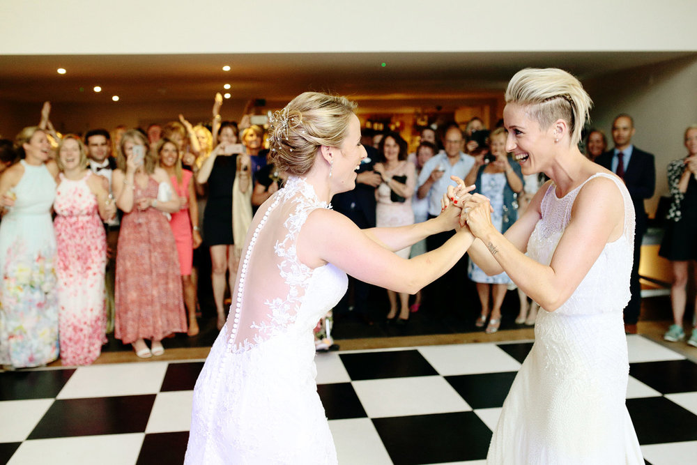same sex first wedding dance photo
