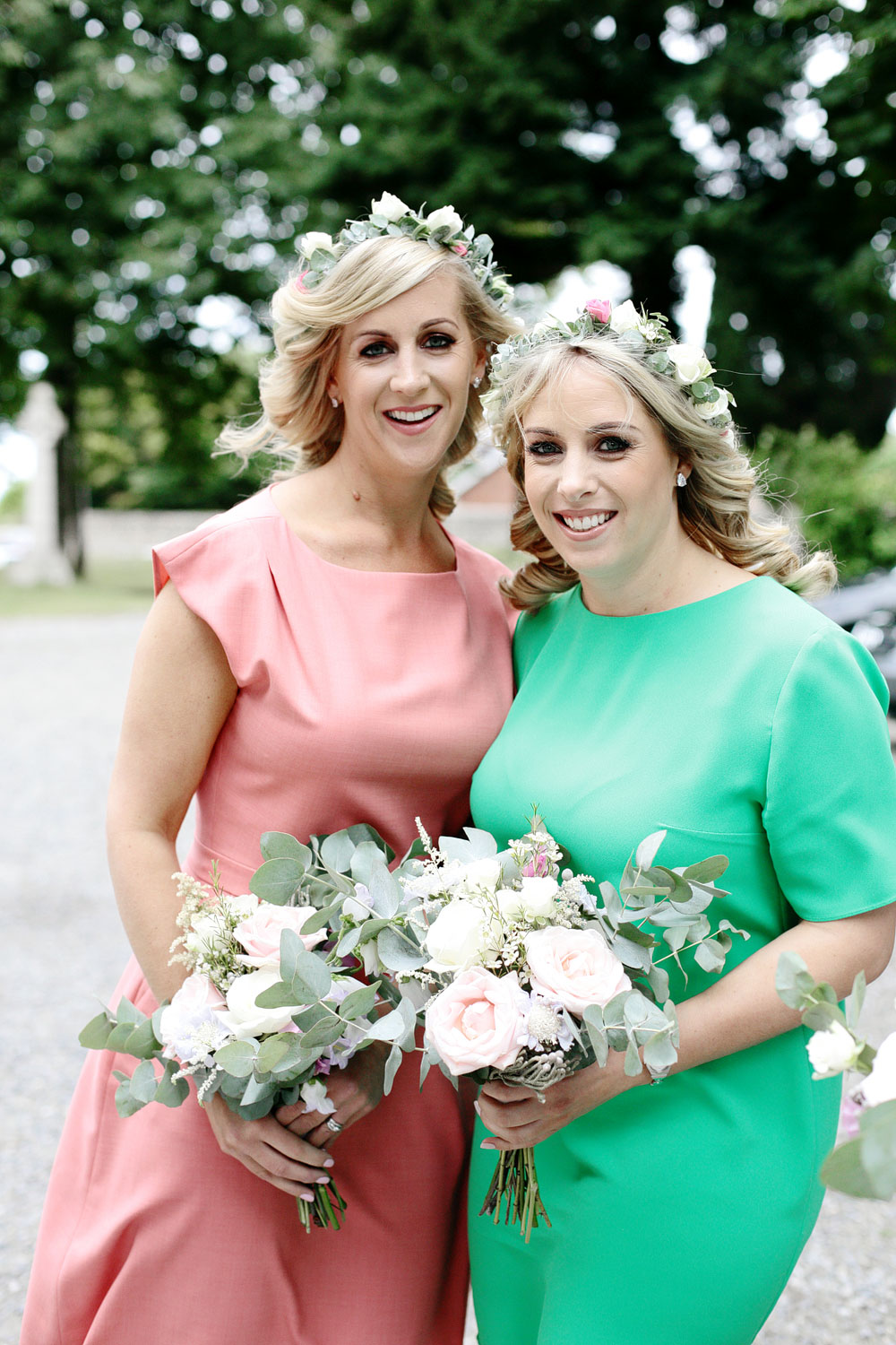 tinakilly house colourful bridesmaids photo