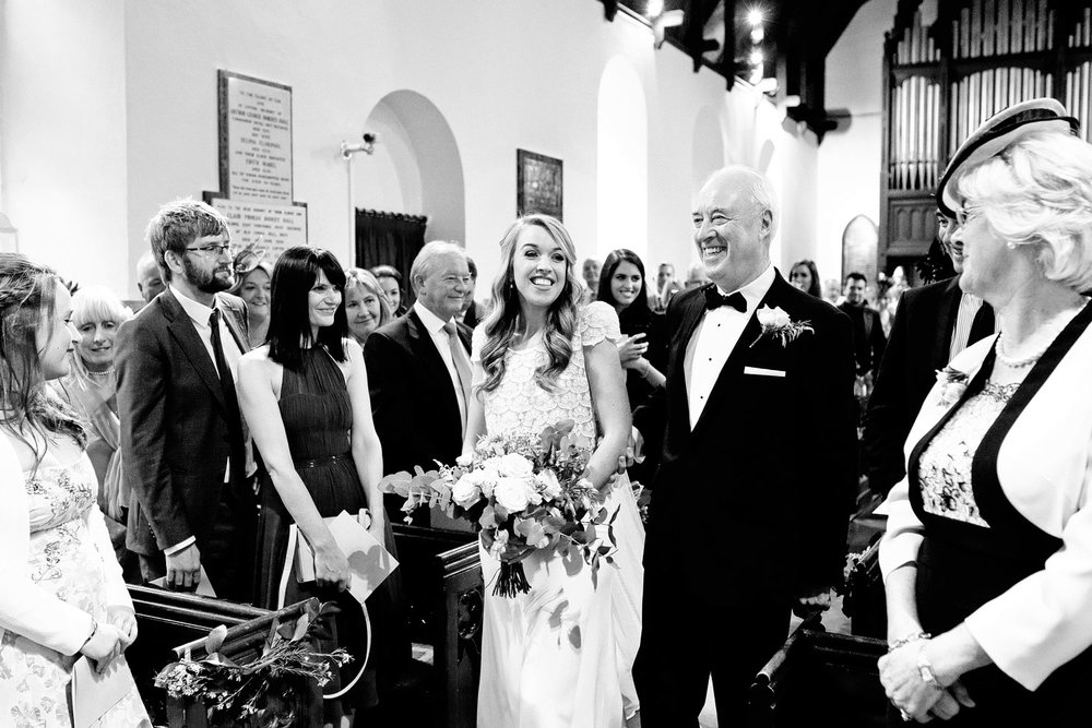 tinakilly house father and bride photo