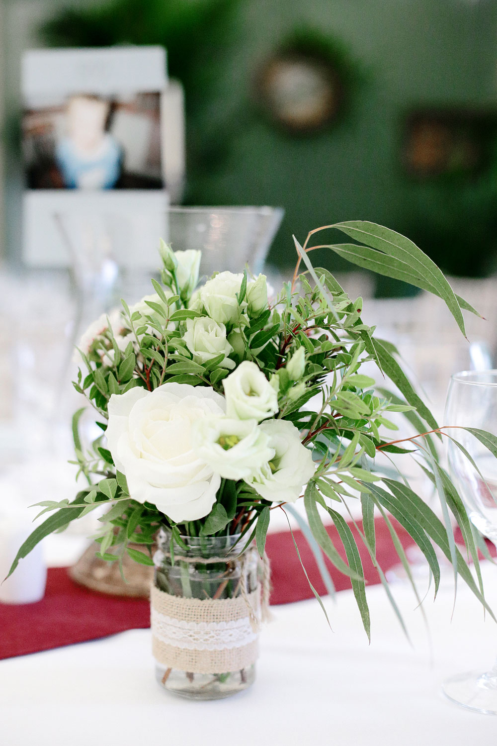 tinakilly house wedding table decor photo