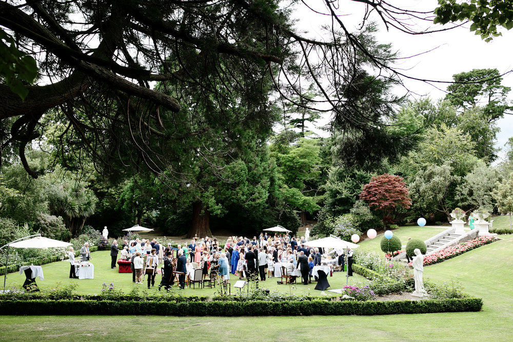 tinakilly house outdoor wedding reception photo