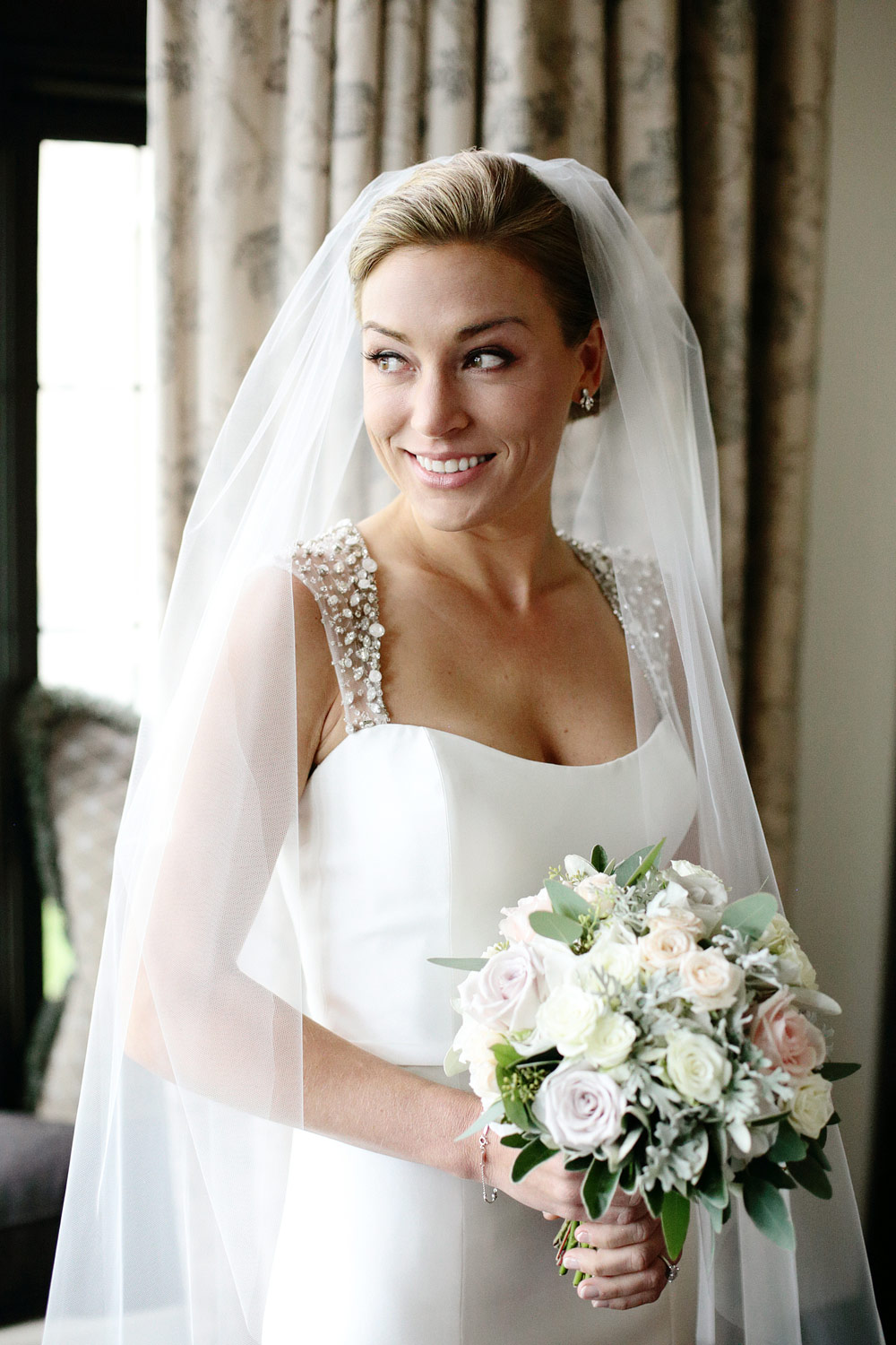 bride portrait at rump international golf resort Ireland