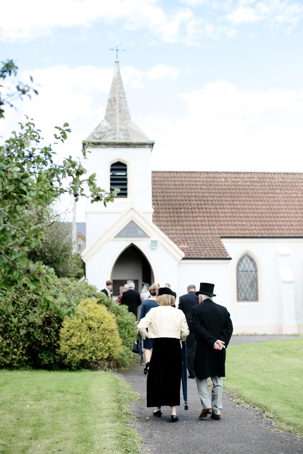 spanish point wedding church photo