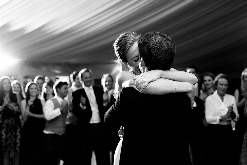 bride and groom dancing at doonbeg lodge Clare Ireland