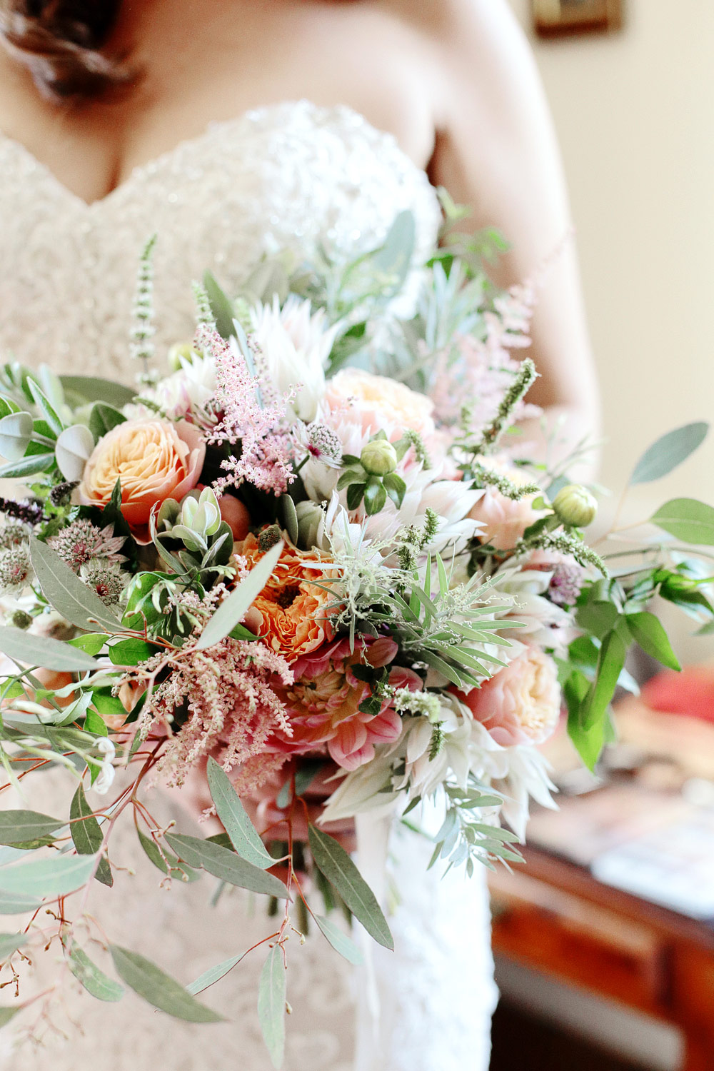 bridal bouquet chateau lagorce bordeaux France