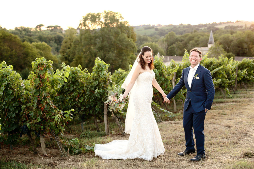 vineyard wedding venue in Bordeaux France