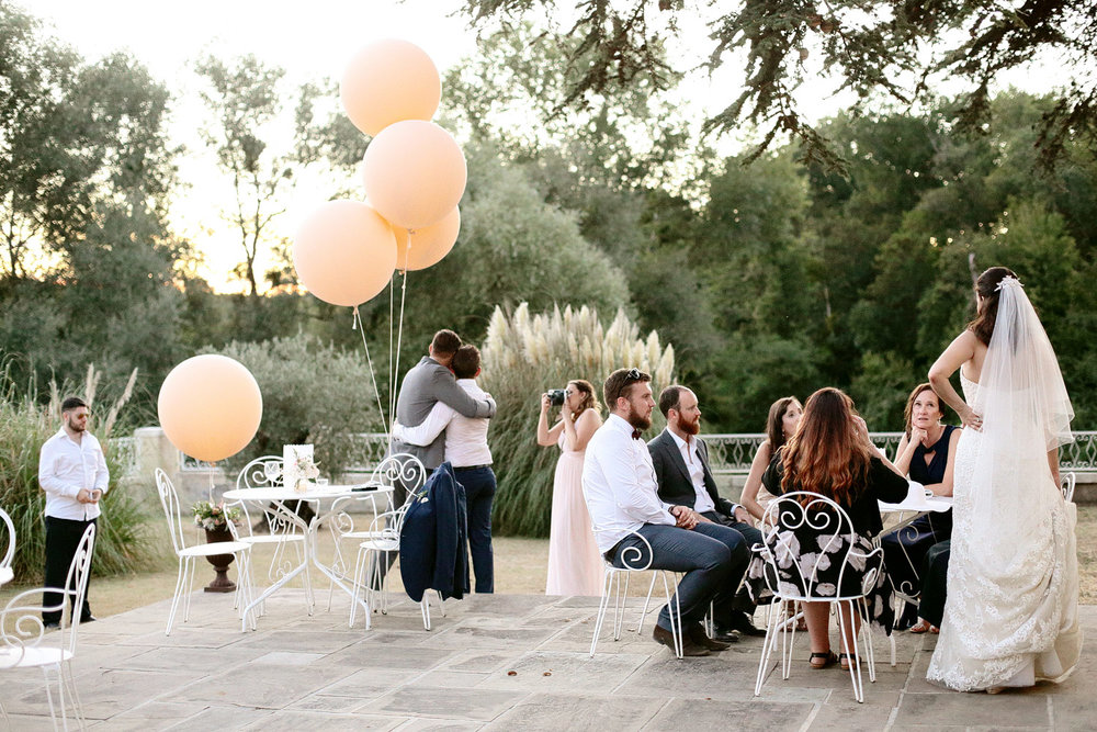 summer wedding at Chateau Lagorce