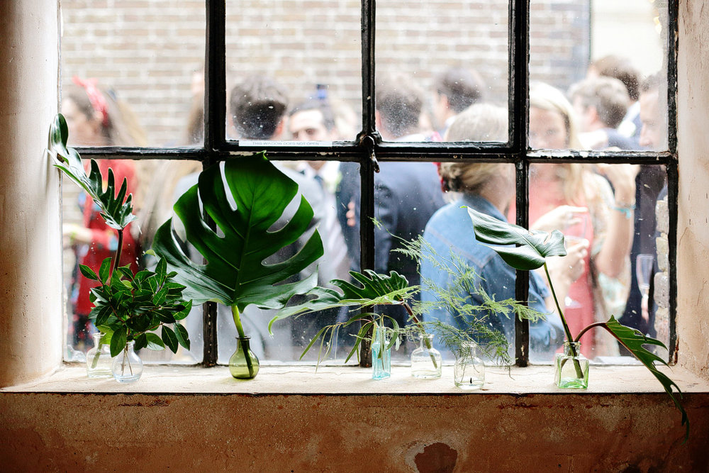 foliage wedding decor for warehouse wedding london