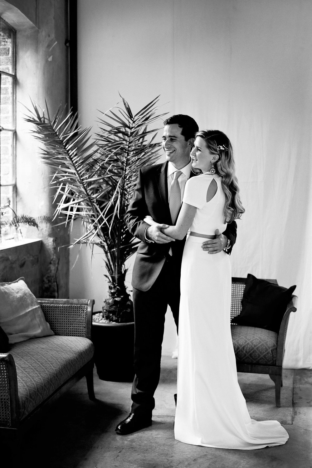 loft studios wedding bride and groom photo