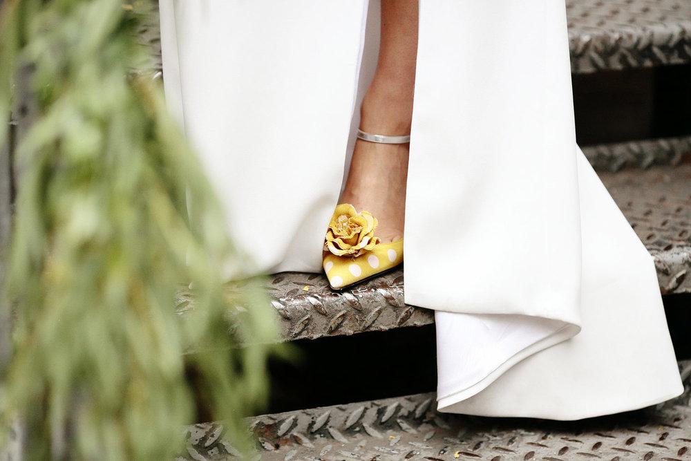 yellow wedding shoes photo
