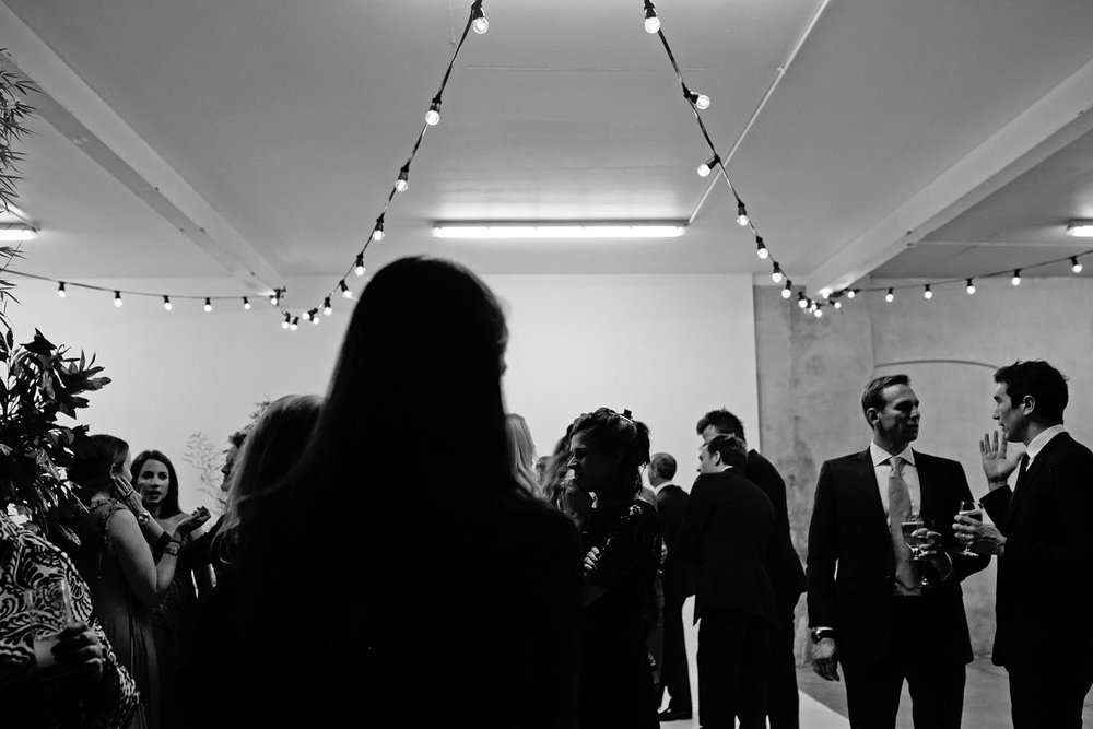 loft studios wedding bar photo