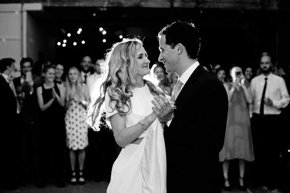 loft studios wedding first dance photo