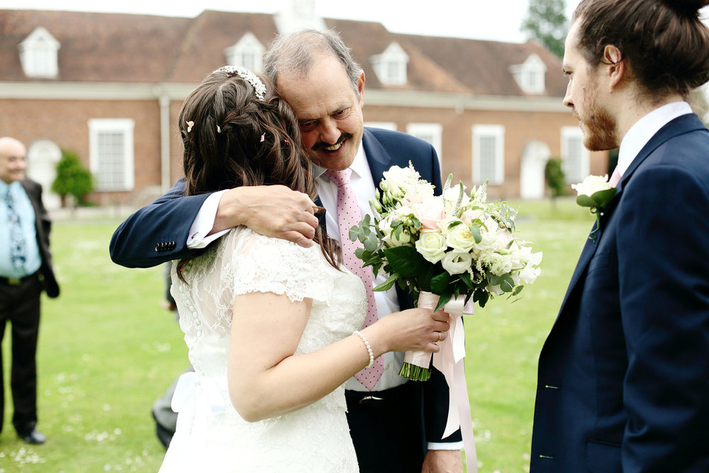 bride with father emotional photo