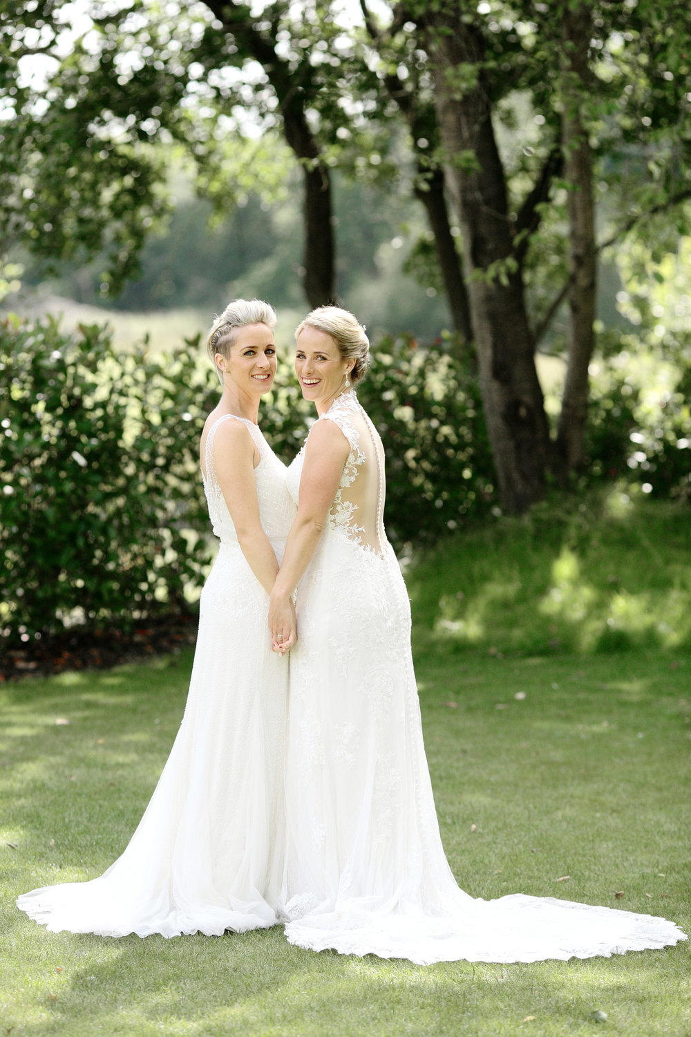 same sex wedding brides photo Millbridge Court surrey