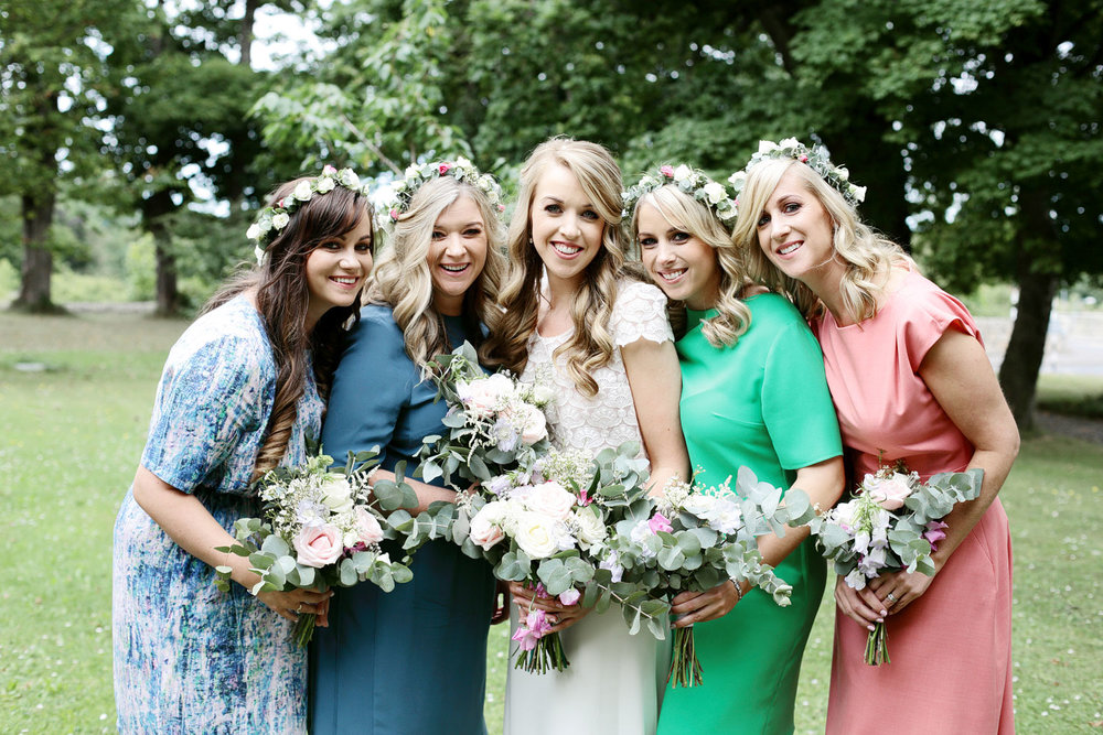 bridesmaids photo at tinakilly house in Wicklow