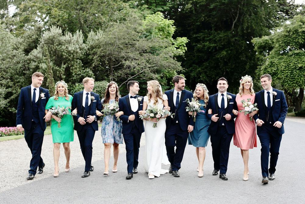 tinakilly house wedding bridal party photo