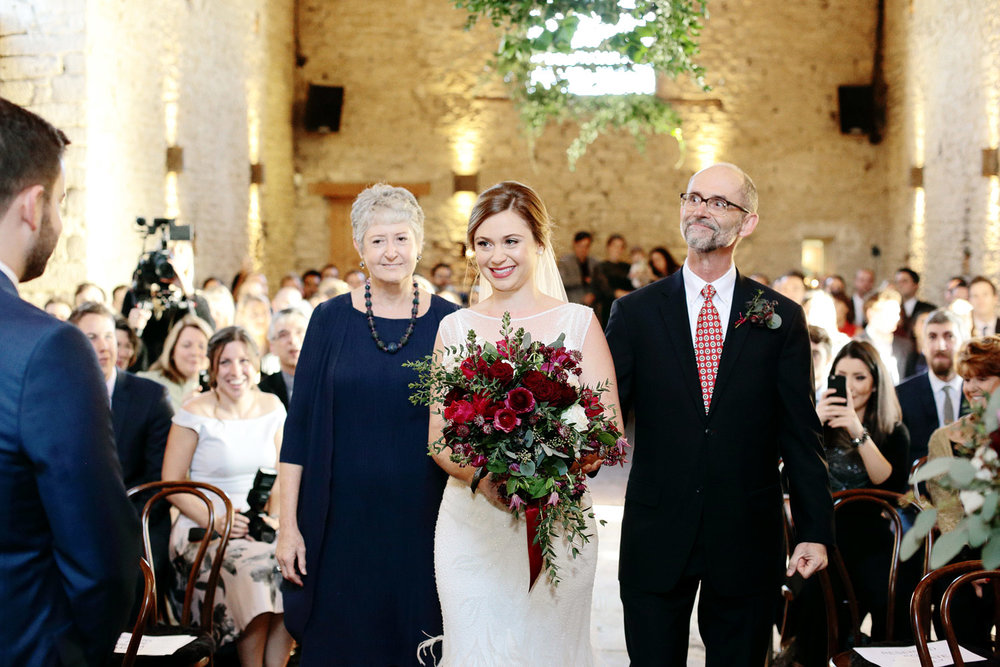 wedding ceremony at Cripps Barn Cotswolds