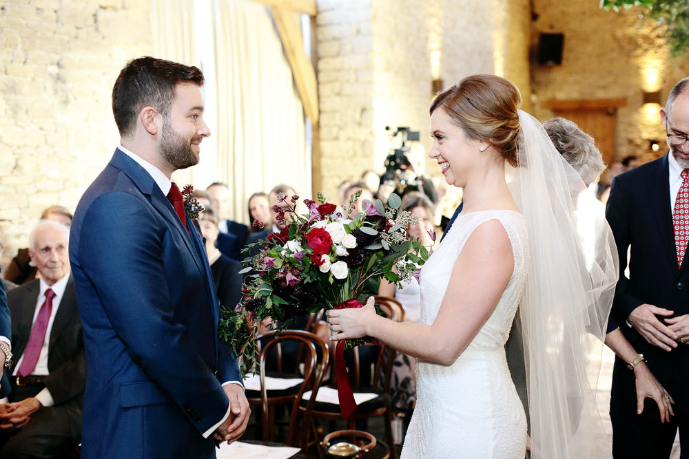 Cripps Barn wedding ceremony photo