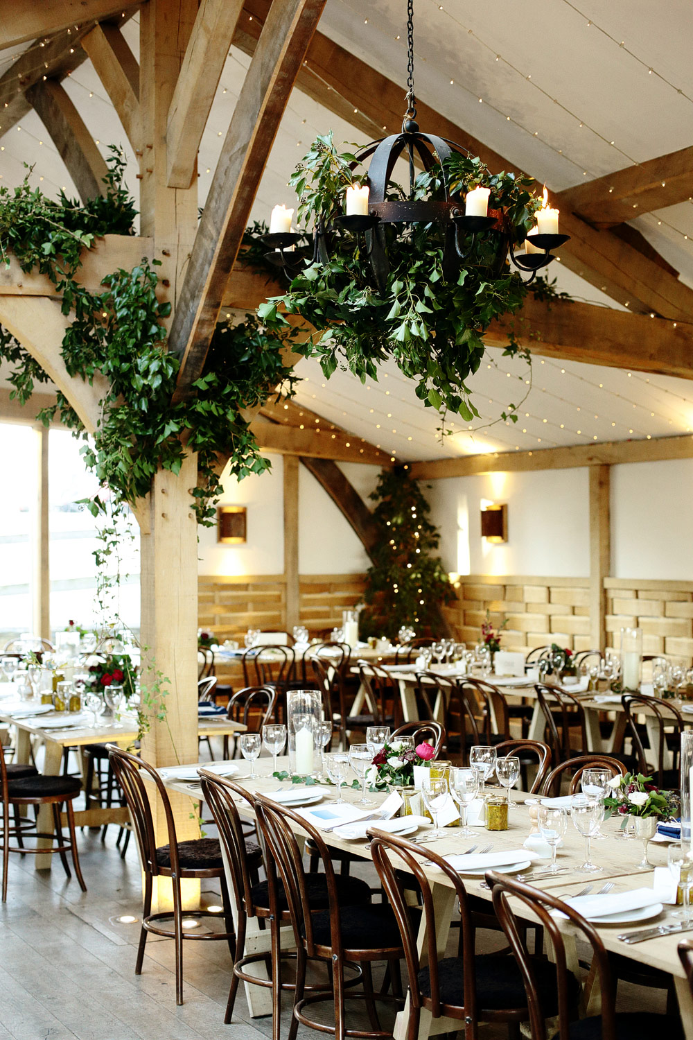 wedding decor at Cripps Barn Cotswolds