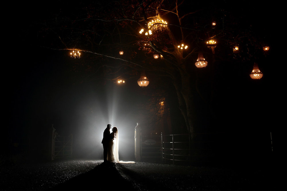 winter wedding at ballymagarvey village in Meath photo