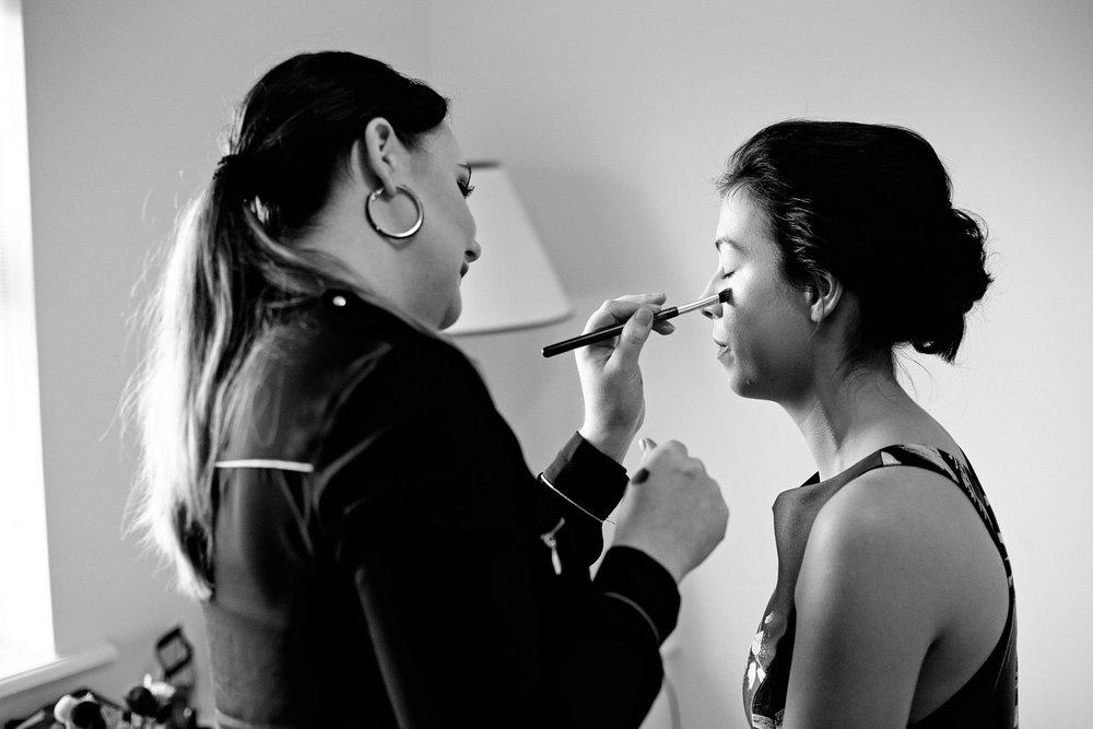 clonabready house wedding bridesmaid make-up photo